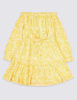 Marks and Spencer Bardot Tie Waist Dress (3-16 Years)