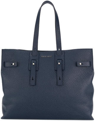 Orciani soft navy tote bag