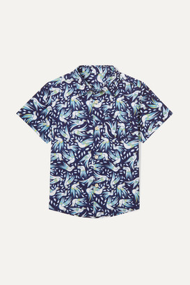 Thorsun Kids - Georgie Printed Cotton-poplin Shirt - Navy