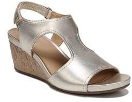 Naturalizer Cinda Leather Ankle-Strap Wedge Sandals