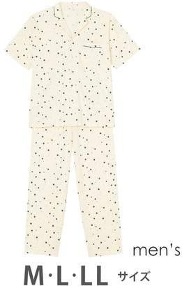 Wing 【メンズパジャマ】綿100% 星柄 ウイング/ワコール(C)FDB
