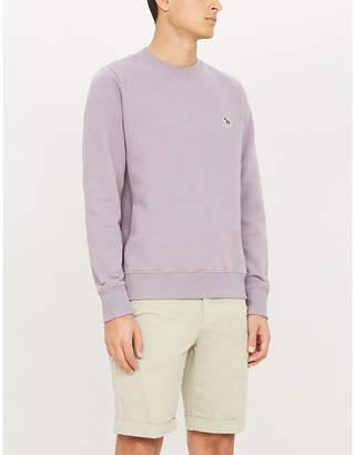 Paul Smith Zebra badge cotton-jersey sweatshirt