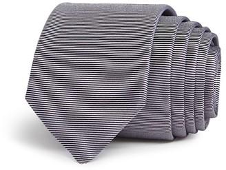 Theory Horizontal Textured Stripe Skinny Tie $95 thestylecure.com