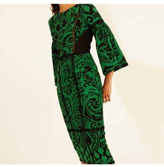 Amanda Wakeley Emerald Paisley Jacquard Short Dress