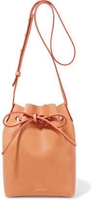 Mansur Gavriel Mini Leather Bucket Bag - Camel