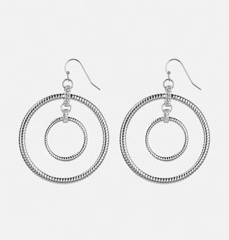 Avenue Rope Double Ring Drop Earrings