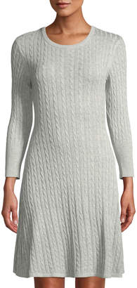 Dex Cable-Knit Fit-and-Flare Dress