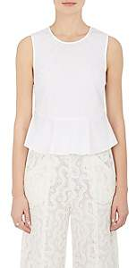 A.L.C. Women's Casara Cotton Poplin Peplum Top - White