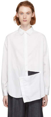 Y's Ys White Slash Shirt