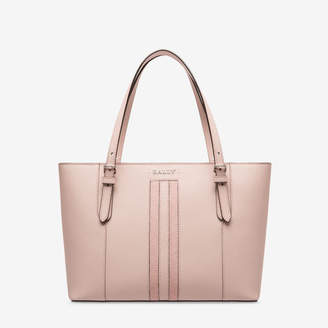 Bally Supra Small Pink, Women's small split bovine leather tote bag in dusty rose