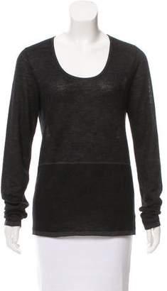 Agnona Cashmere-Blend Knit Top