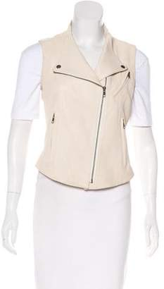 Theory Leather Moto Vest