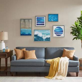 Beachcrest Home 'Water Tide Gallery' 5 Piece Framed Graphic Art Print Set on Canvas