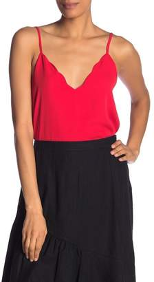 Socialite Scalloped V-Neck Cami