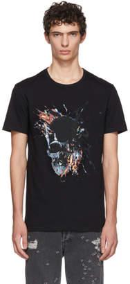 Alexander McQueen Black Splatter Skull T-Shirt