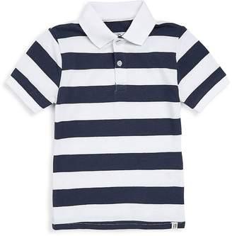Sovereign Code Boy's Stripe Polo - Navy White, Size m (10-12)