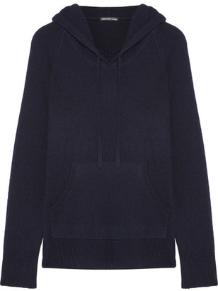 James Perse - Cashmere Hooded Top - Navy $495 thestylecure.com