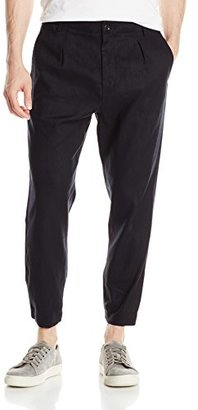 Vince Men's Linen Pleated Urban Cropped Chino Pant $225 thestylecure.com