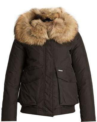 WOOLRICH JOHN RICH & BROS. Military fur-trimmed down bomber jacket $971 thestylecure.com