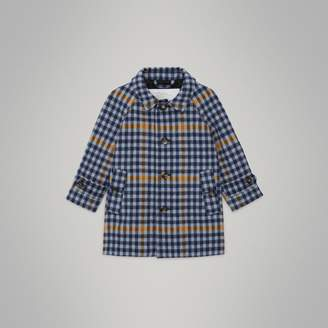 Burberry Check Wool Car Coat , Size: 2Y, Blue