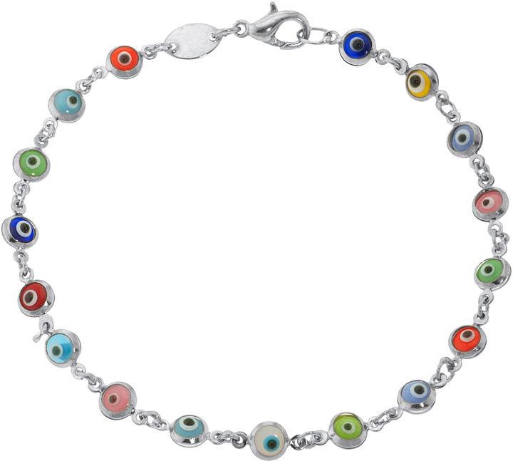 JCPenney Bridge Jewelry Dazzling Designs Silver-Plated Guardian Eye Bracelet