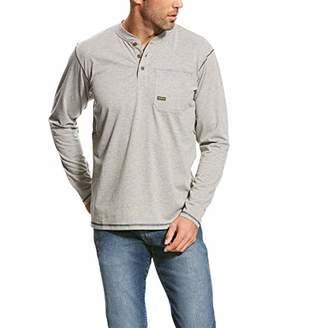 Ariat Men's Big and Tall Rebar Pocket Long Sleeve Henley