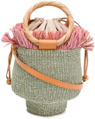 Aranaz wicker bucket bag