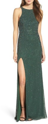 Women's La Femme Beaded Column Gown $508 thestylecure.com
