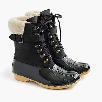 J.Crew Women's Sperry® for Shearwater buckle boots in black