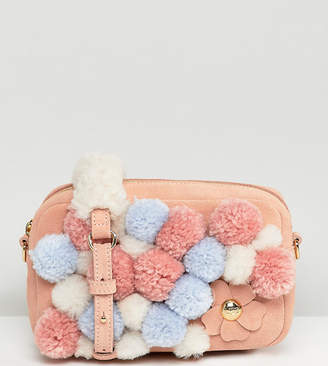 UGG Janey Pink Pom Pom Cross Body Bag