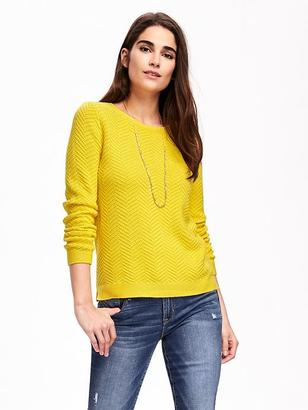 Relaxed Textured Crew-Neck Sweater for Women $34.94 thestylecure.com