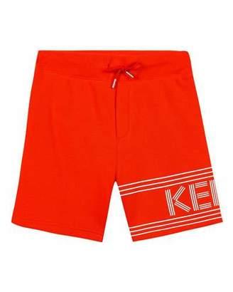 Kenzo Fleece Logo Bermuda Shorts, Size 8-12