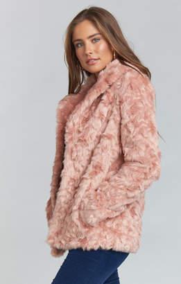 Show Me Your Mumu Park Ave Jacket ~ Mauve Faux Fur