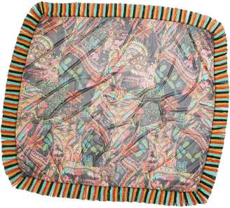 Fuzzi Paisley Print Tulle Tassel Scarf