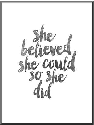 "Art.com She Believed She Could So She Did"" Mounted Wall Art Print"