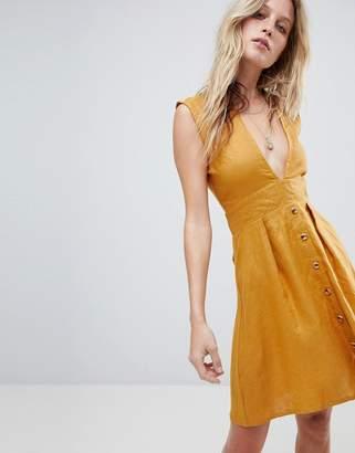 Faithfull The Brand Faithfull Button Front Mini Dress