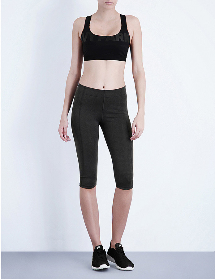 IVY PARK Mid-rise cropped jersey leggings