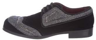 Dolce & Gabbana Embellished Velvet Derby Shoes