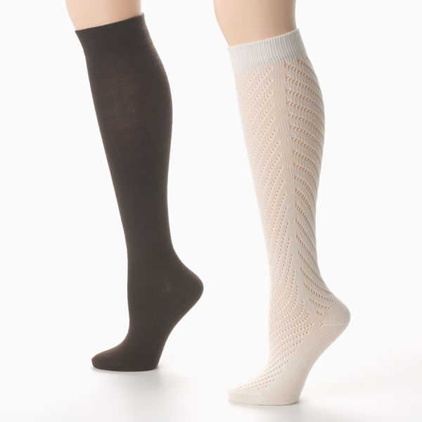 Apt. 9® Pointelle Knee-High Trouser Socks