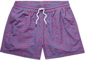 Frescobol Carioca Bossa Short-Length Printed Swim Shorts