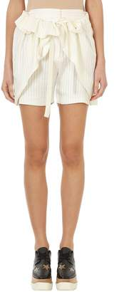 Stella McCartney Beige Striped Silk Shorts