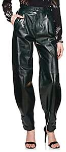 Givenchy Women's Patent Leather High-Waist Pants - Green