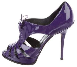 Christian Dior Patent Leather Caged Pumps