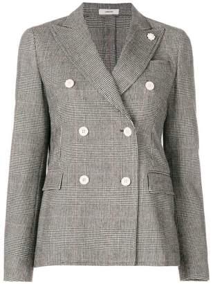 Lardini check buttoned blazer