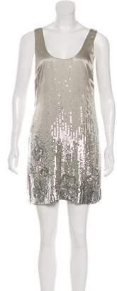 Halston Embellished Tank Dress