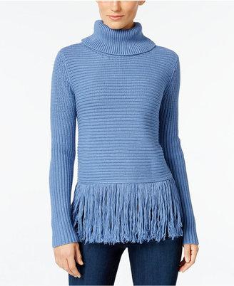MICHAEL Michael Kors Fringe Turtleneck Sweater $125 thestylecure.com