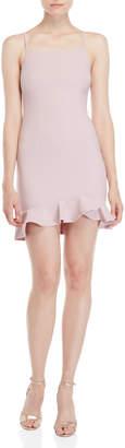 She + Sky Ruffle Hem Mini Dress