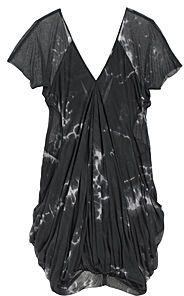 Helmut Lang Hematite Draped Dress