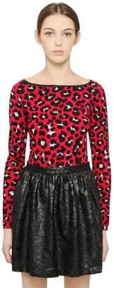 Blugirl Leopard Printed Viscose Sweater