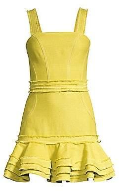 Alexis Women's Judith Linen& Cotton Ruffled Mini Dress